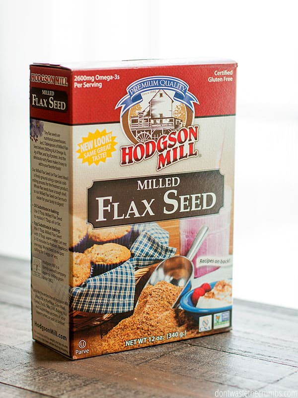 Box of Hodgson Mill milled Flax Seed.