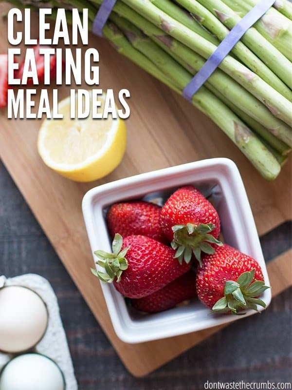 This is my favorite meal plan - it has a whole month worth of clean eating meal ideas that my family loves. Plus they're cheap! Starting with this plan each month has done wonders for my grocery budget. :: DontWastetheCrumbs.com