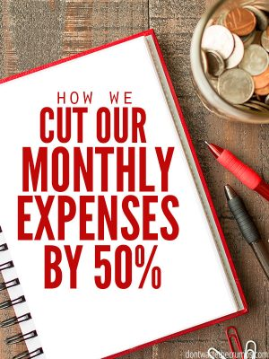 How We Cut our Monthly Expenses by 50%