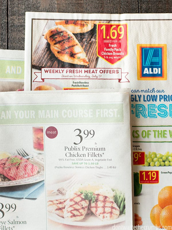 Weekly Circulars advertising premium chicken! A weekly circular will help you plan meals around the best possiable deals.