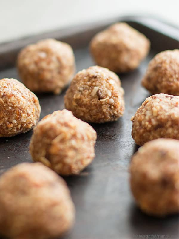 A batch of these sweet salty energy bites is the perfect after school snack. It's also great at night when you're craving something sweet and salty, just don't tell the kids you ate their snack! :: DontWastetheCrumbs.com