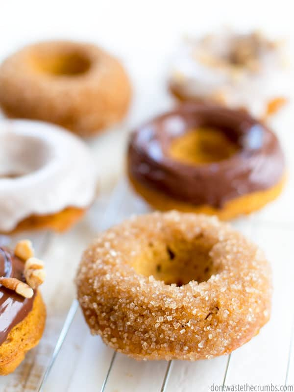 These easy pumpkin donuts are the bomb! Surprise the kids this weekend with this healthy donut recipe. Trust me, they won't realize it's healthy!