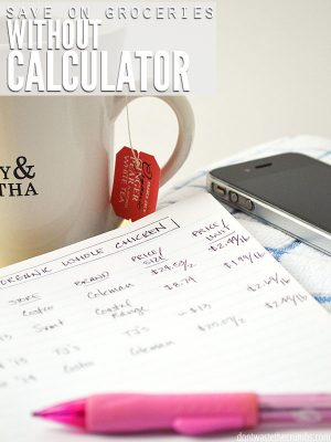 How to Save on Groceries Without a Calculator