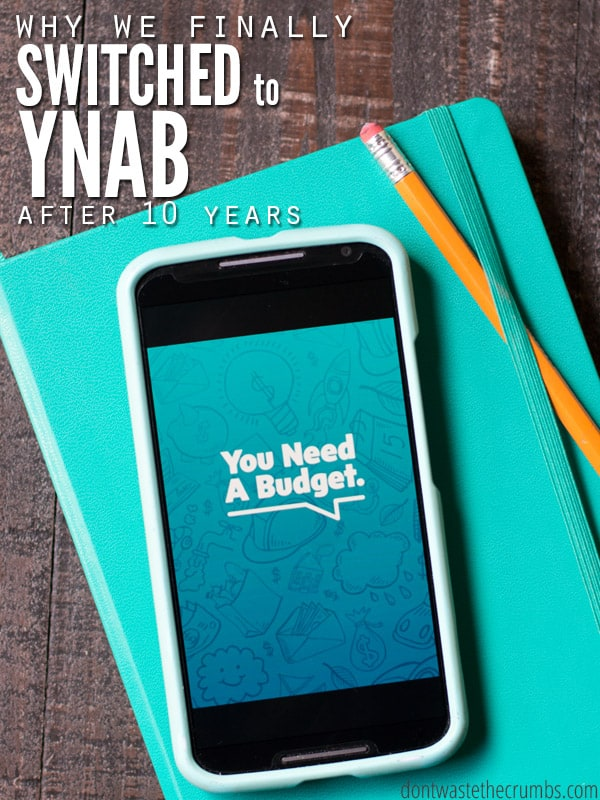 We've had a budget for 10 years, but switched to YNAB because our method was flawed. In one month, we saved an extra $200. We'll never go back! :: DontWastetheCrumbs.com