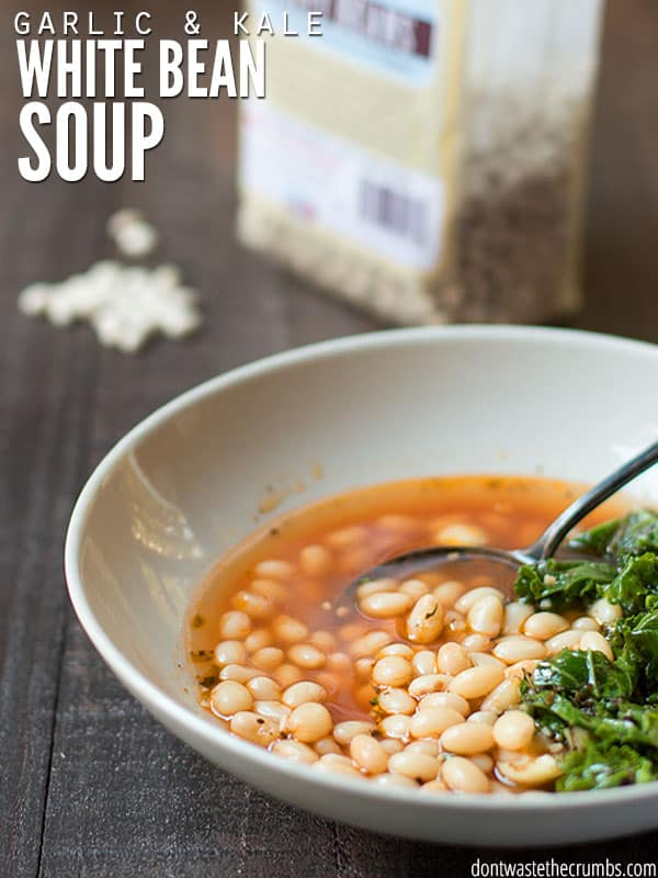 Garlic White Bean Soup with Kale