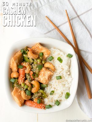 30 Minute Cashew Chicken