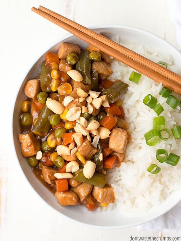 Kung Pao Chicken is my new go-to when time is short for dinner. It's quick, tasty, and all real food.