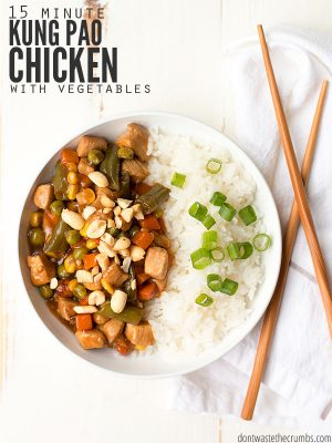 15 Minute Kung Pao Chicken with Vegetables