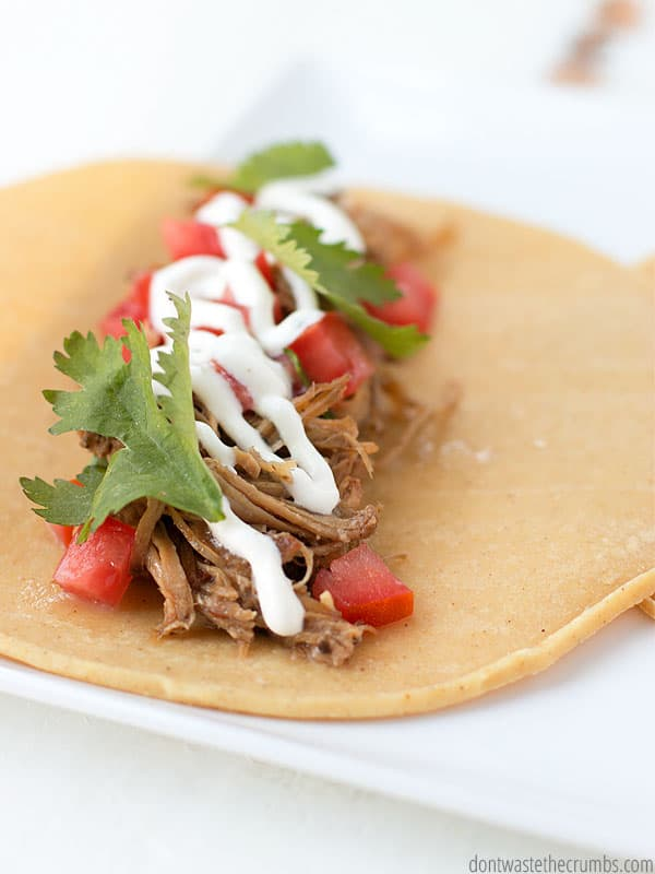 This is THE BEST slow cooker carnitas recipe you will ever try. Don't trust me? Try it!