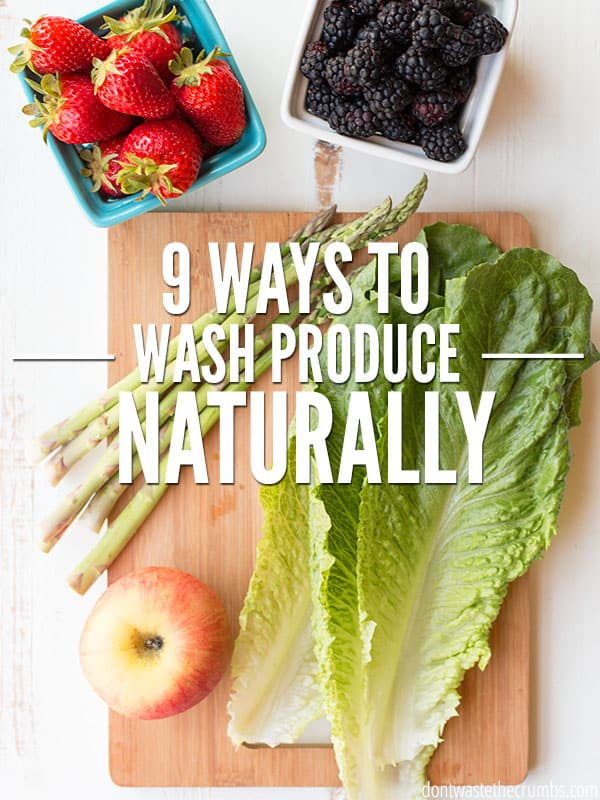 Save money by making homemade vegetable wash to remove pesticides and dirt naturally. Choose from 9 veggie wash recipes that work, using ingredients you already have! :: DontWastetheCrumbs.com