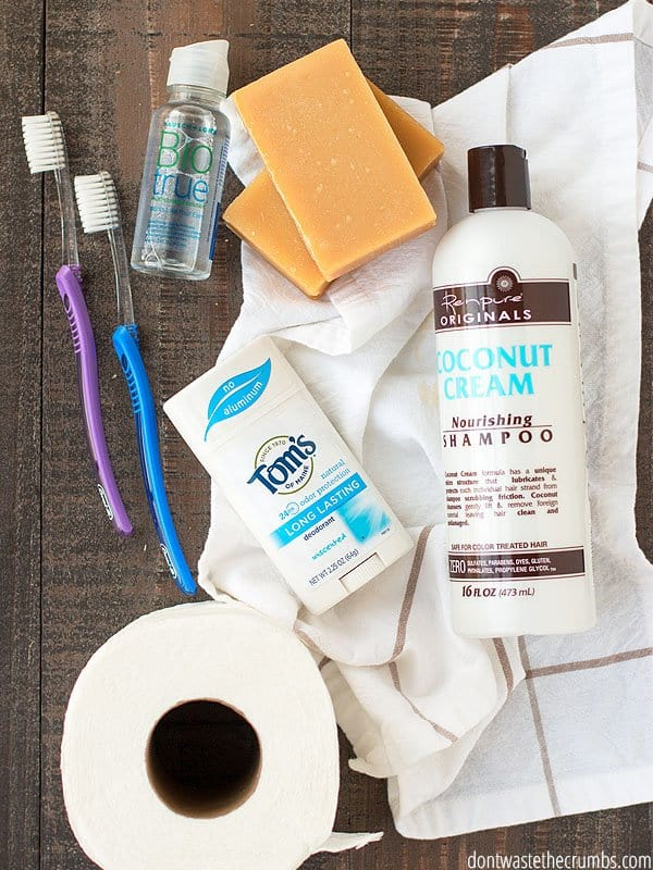 Some people combine their food and toiletry budget. I do not recommend doing this, as costs for toiletries can vary significantly. Get ahead of your budget by planning and shopping for toiletries separately.