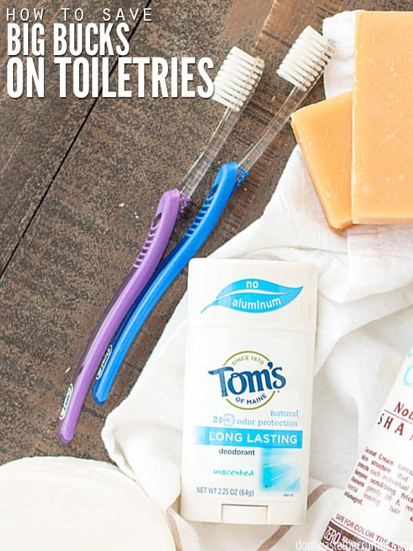 Step-by-step tutorial to make a toiletries budget to save on toilet paper, make-up and beauty products. With tips & tricks to make every dollar count! :: DontWastetheCrumbs.com