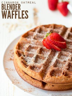 This Belgian waffle recipe comes out crispy and fluffy every time, and it's made without milk. This is my family's favorite and it's naturally gluten-free! :: DontWastetheCrumbs.com