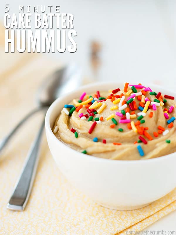 Groovy Cake Batter Hummus Dip Dont Waste The Crumbs Funny Birthday Cards Online Elaedamsfinfo