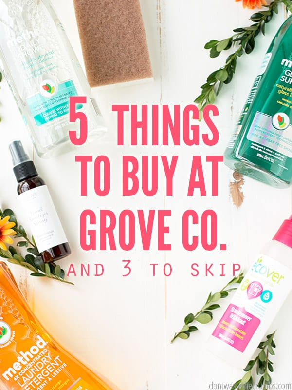 What should you buy at Grove Collaborative? I'm sharing my honest review, the best deals, things to skip and whether VIP is worth it! Read before you buy! :: DontWastetheCrumbs.com