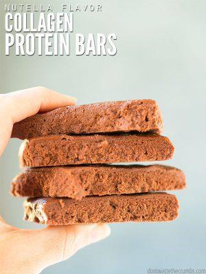 Nutella Collagen Protein Bars
