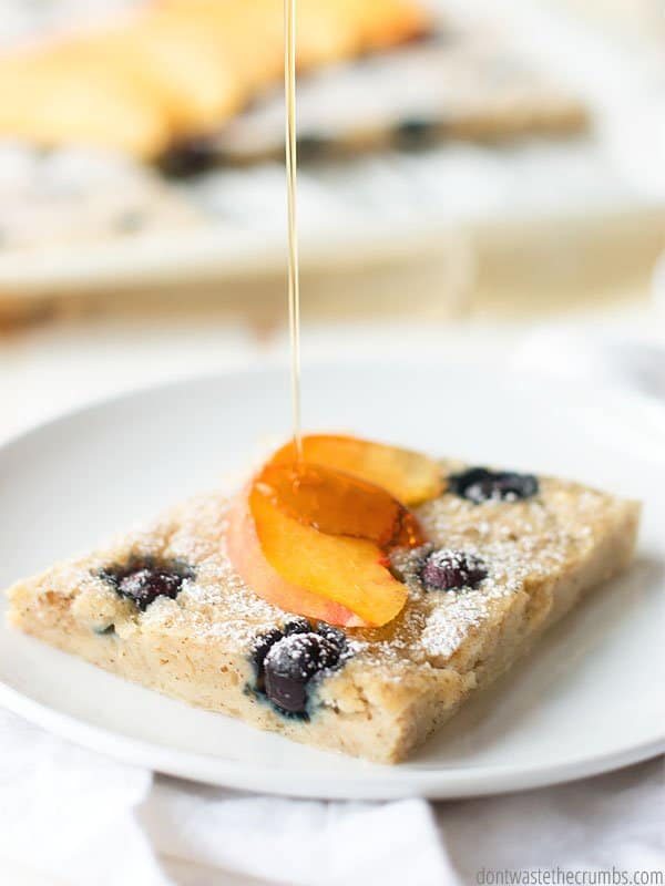 If pancakes are out of the question on a school morning, try this sheet pan pancake recipe. Its so easy and quick! Mix it up from the usual cereal and oatmeal options.
