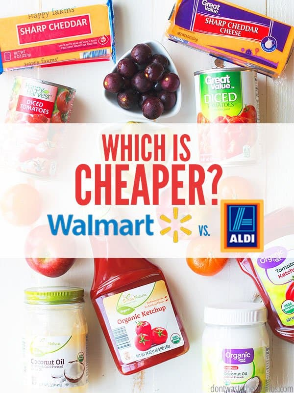 Walmart vs. ALDI - which is cheaper? What about quality? See the list of prices at ALDI and Walmart, and see which store as the better deal on tons of items! :: DontWastetheCrumbs.com