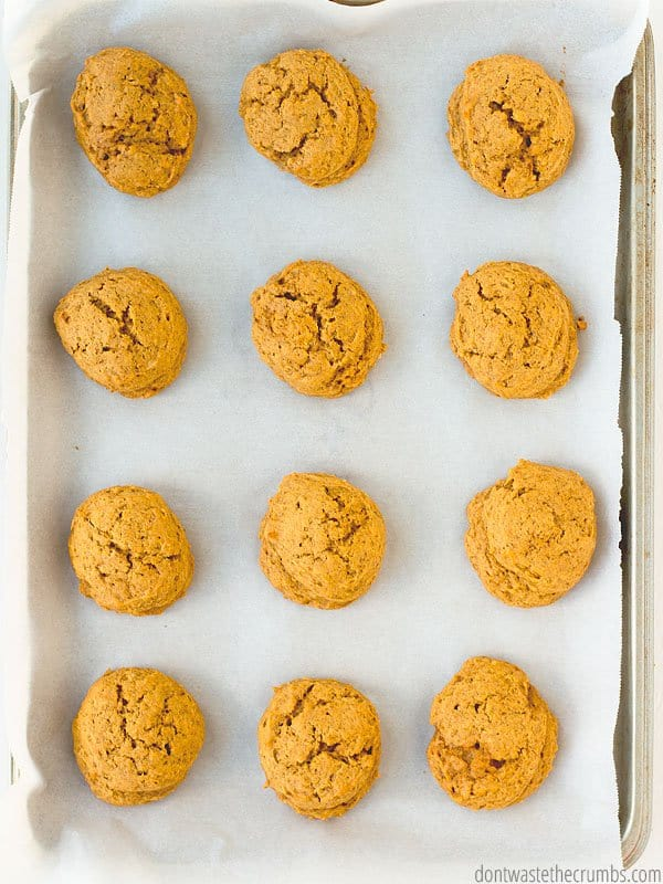 Pumpkin things and cookies are my favorites. Combine the two into pumpkin cookies and I'm in heaven! These are even HEALTHY! Top with a dollop of naturally sweetened frosting and they are perfect.