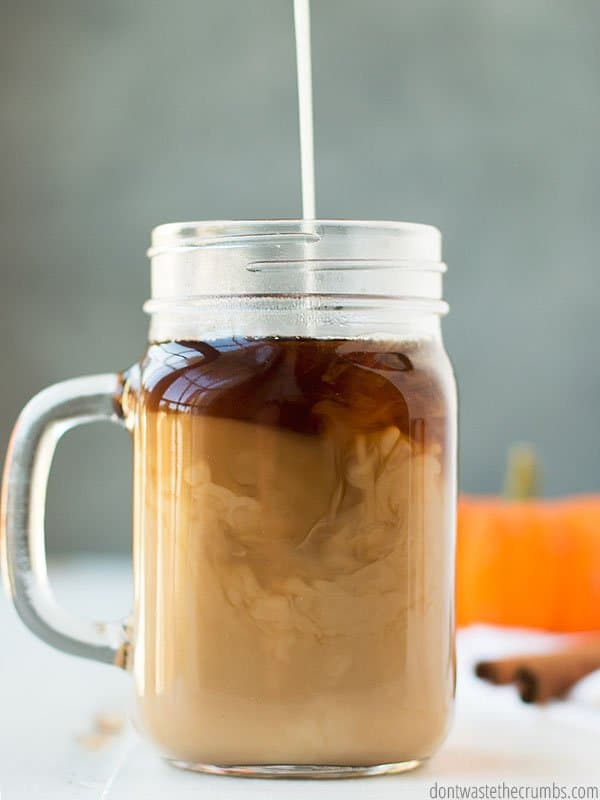 There's nothing better than a little pumpkin spice coffee creamer this time of year! This homemade version is healthier and costs less than the store bought version.