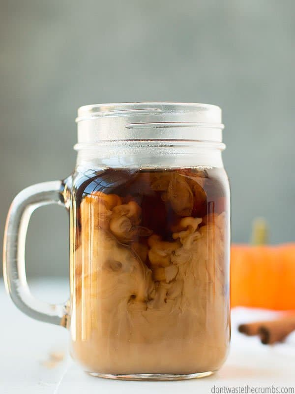 Real food coffee creamer without the junk? Pumpkin spice coffee creamer for the win!