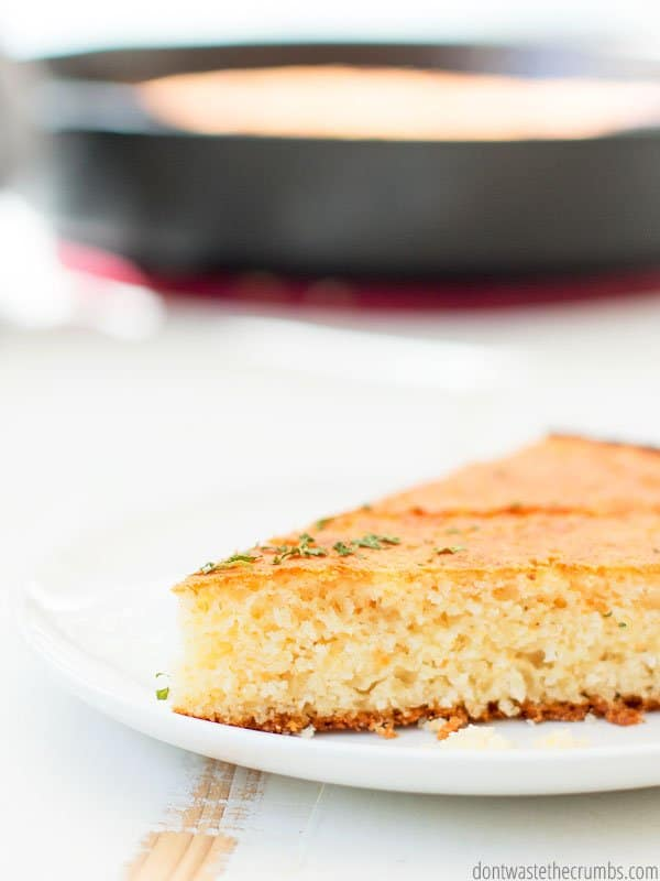 This cornbread recipe is amazing! My family will devour an entire pan in one sitting. And there's no sugar added!
