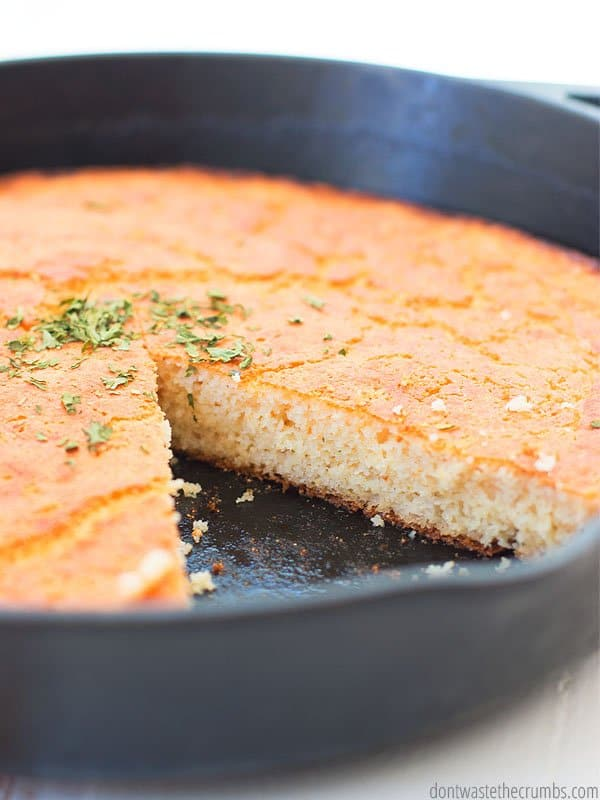 Looking for a melt in your mouth cornbread recipe? This recipe uses, buttermilk, butter, no sugar and is so delicious!