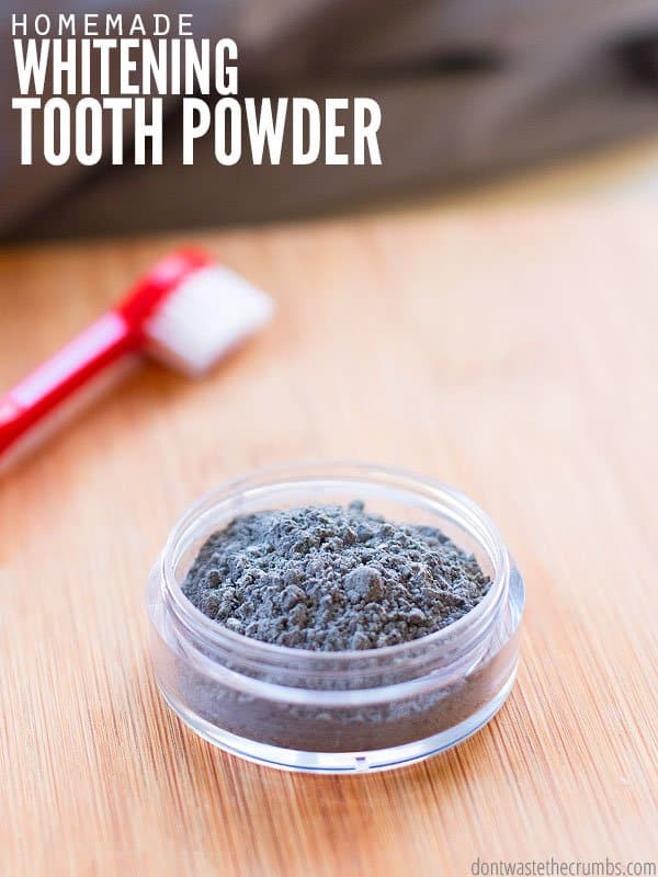 Don't buy it from Amazon - this activated charcoal teeth whitening powder recipe is 2 ingredients and a simple alternative to toothpaste that really works! :: DontWastetheCrumbs.com