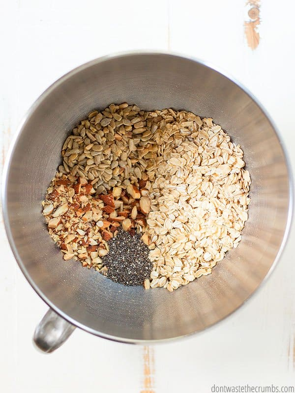 After ditching store bought cereals, we go for granola instead. This cinnamon granola recipe is super tasty and is great all year long!