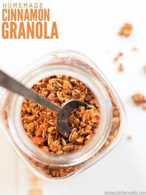 Cinnamon Granola with Coconut Oil