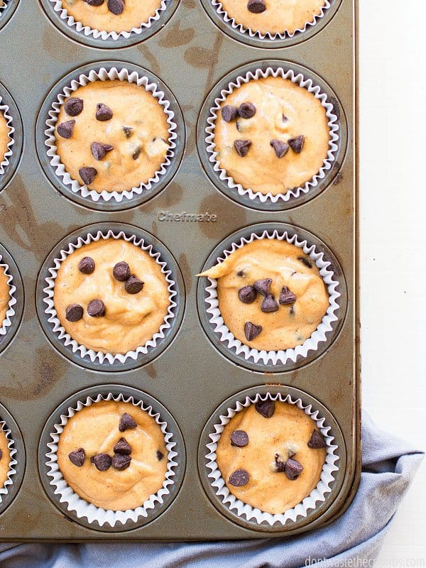 My family's new favorite muffins are gluten-free AND healthy! Peanut butter chocolate chip muffins are delicious!