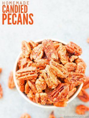 Healthier Candied Pecans