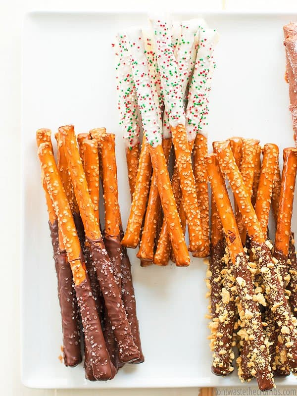 Learn how to make chocolate covered pretzels using real food ingredients!