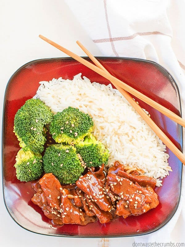 You can make this beef and broccoli in your pressure cooker in less time than it takes for Chinese take-out. Plus you know all the ingredients and it tastes better!