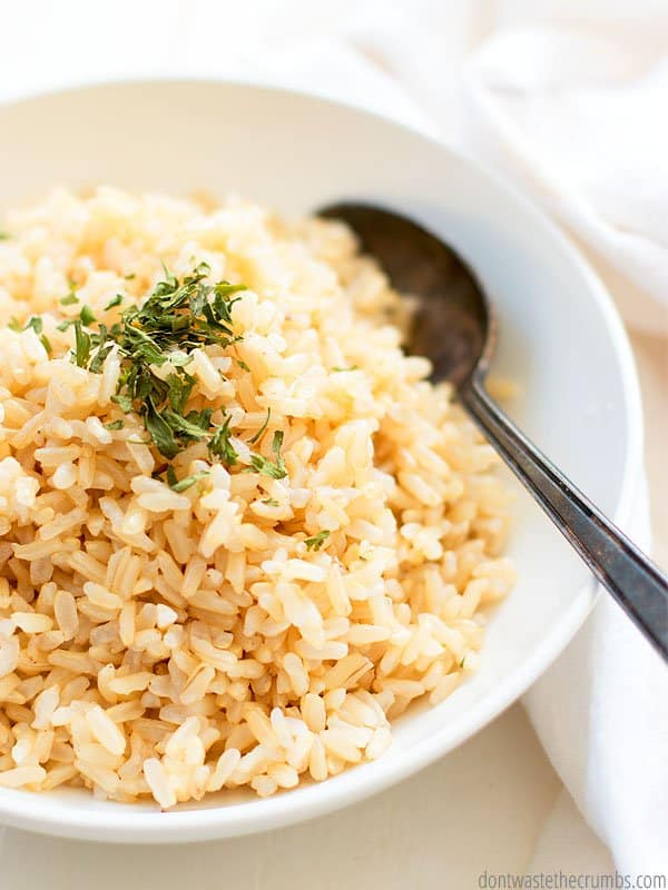 Have you tried brown rice in the Instant Pot? It's delicious!! I'm a fan now and won't be looking back at white rice. Yum!