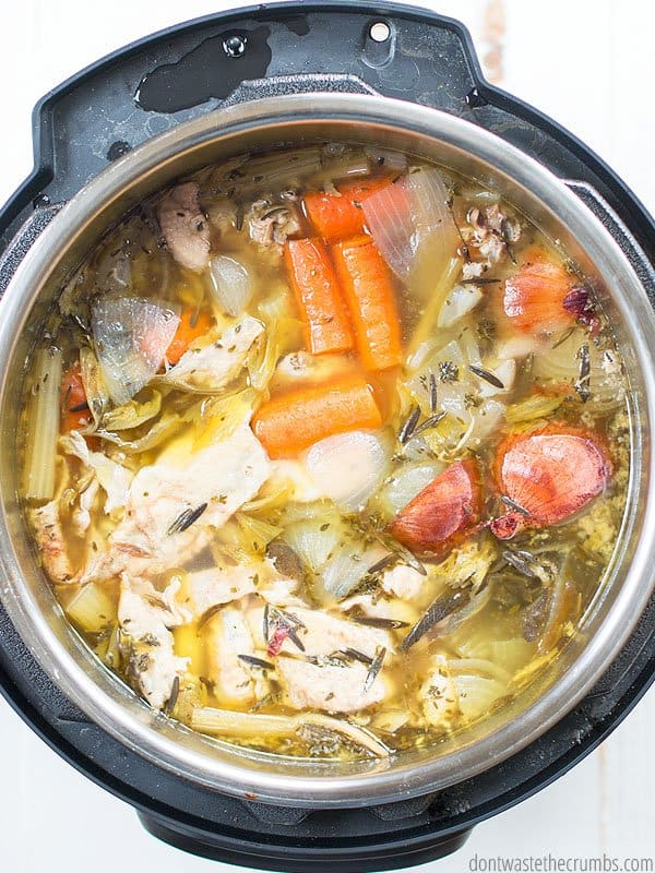 Making homemade chicken stock is so easy, and now it's even easier with the Instant Pot! Use this tutorial to learn how.