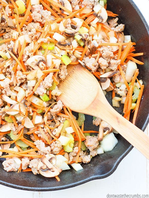If you're trying to get more veggies into your diet, and still have a great tasting meal, egg roll in a bowl is the ticket. Make it with ground pork, turkey, chicken or even make it vegetarian!