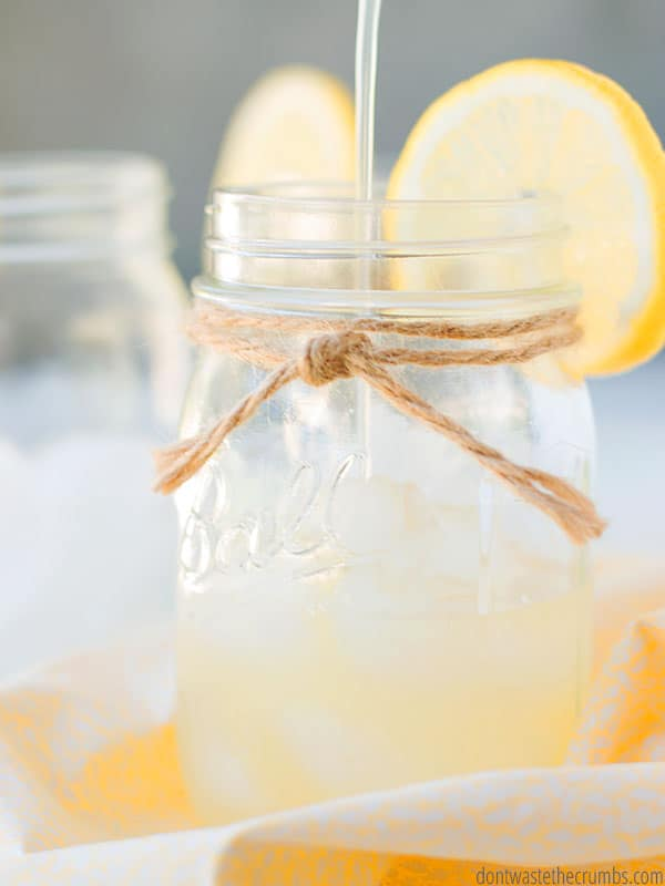 For a delicious treat this summer try healthy homemade lemonade! Sweetened with honey instead of sugar, this is a great alternative to store-bought lemonades.