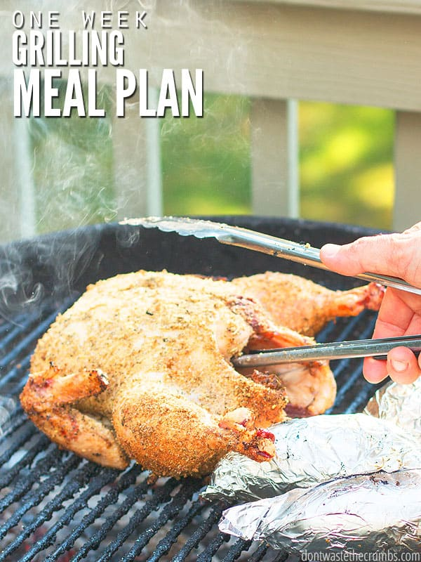 One Week Grilling Meal Plan Healthy Recipes Dont Waste The Crumbs