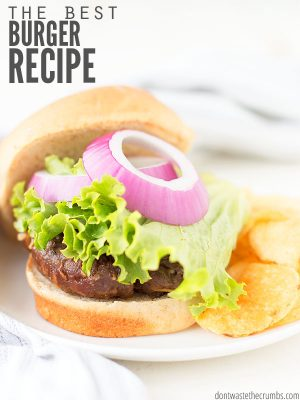 The Best Burger Recipe