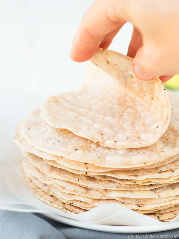 Made from scratch cassava flour tortillas are so good! Easy and delicious, your allergy people will thank you!