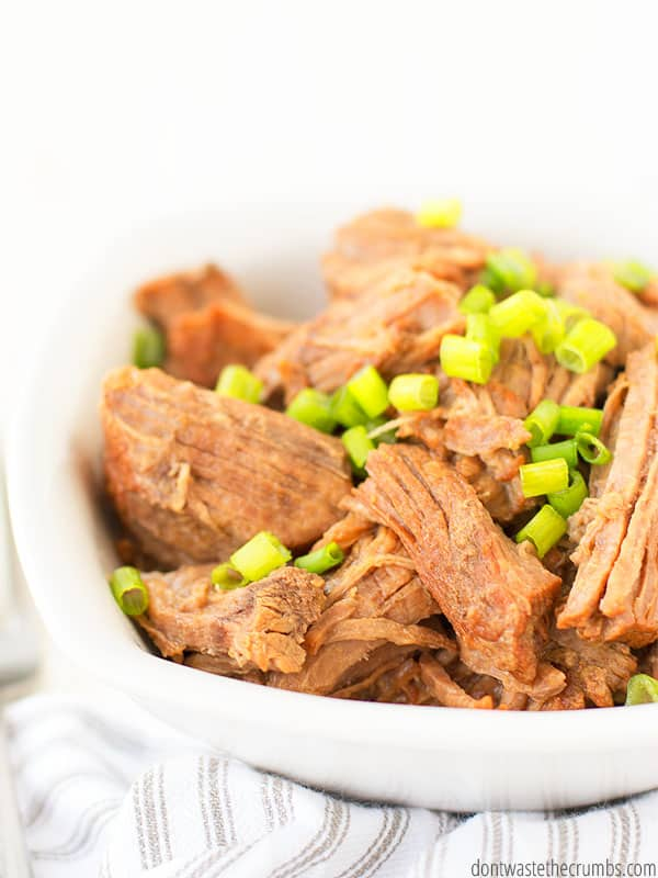Delicious Instant Pot Korean Beef is great over rice, in tacos, or served on its own. Paleo, keto, and whole30!