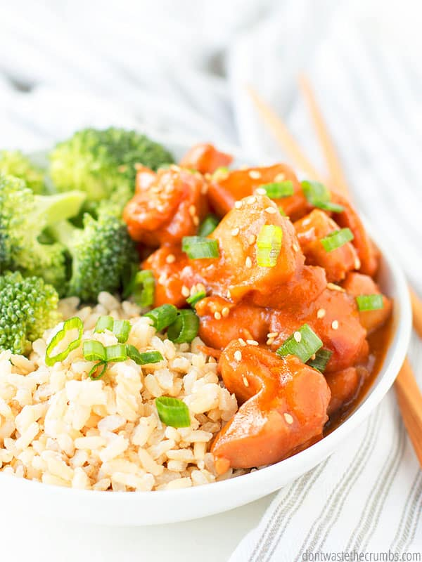 Honey garlic chicken is better than take-out! When you get a hankering for Chinese, skip the processed food and go for an easy homemade alternative.