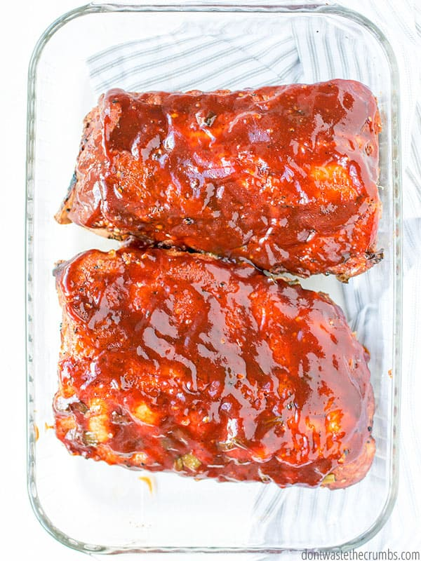 Slow cooker ribs are crazy easy. Use this recipe when you have a few extra minutes in the morning but are short on time near dinner.