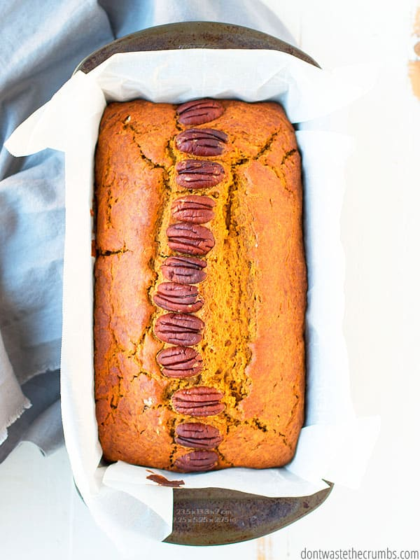Healthy homemade pumpkin bread is perfect for your upcoming holiday guests! Fill bellies and share a delicious homemade recipe.