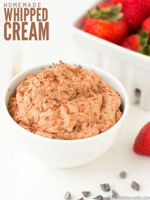 Homemade Chocolate Whipped Cream