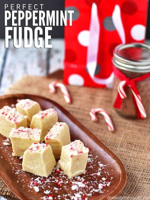 White Chocolate Peppermint Fudge (DF, GF)