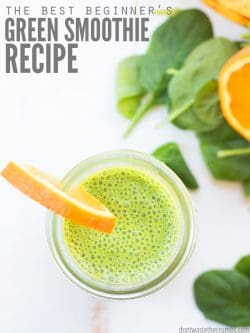 This simple formula for the best green smoothie recipes is the healthiest for weight loss, detox, and beginners! There's also ideas for keto and Paleo too! : : DontWasteTheCrumbs.com