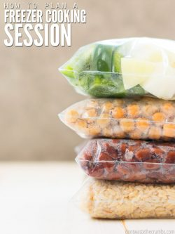 Save time with 13 tips for planning a freezer cooking day, whether you make ahead for a month, are on a budget, use homemade recipes or cook meals for one! : : DontWasteTheCrumbs.com