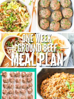 One Week Ground Beef Meal Plan